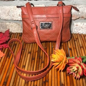 Relic cognac crossbody purse